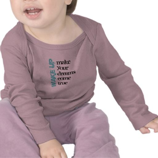 Wake Up Infant Long Sleeve Tshirts