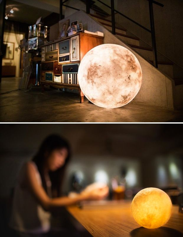 Luna Lantern - The Luna Lantern brings the glowing ambience of the full moon into your space. There are 7 sizes available, ranging from 32 in. to 236 in. diameter & they use either LED or Halogen bulbs with adjustable brightness for dialing in the perfect moonlit mood. | werd.com