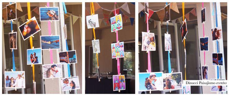 Deco con fotos party #fotos #color #wedding #casamiento #backdrop #inspiracion #details #boda #ambientación