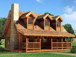 would want the porch to wrap all the way around but otherwise I just love the look of this cabine