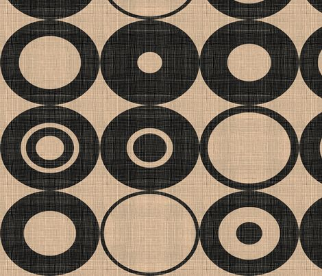 black orbs fabric by chicca_besso on Spoonflower - custom fabric