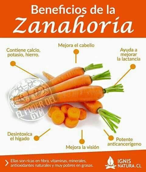 Beneficios de la Zanahoria