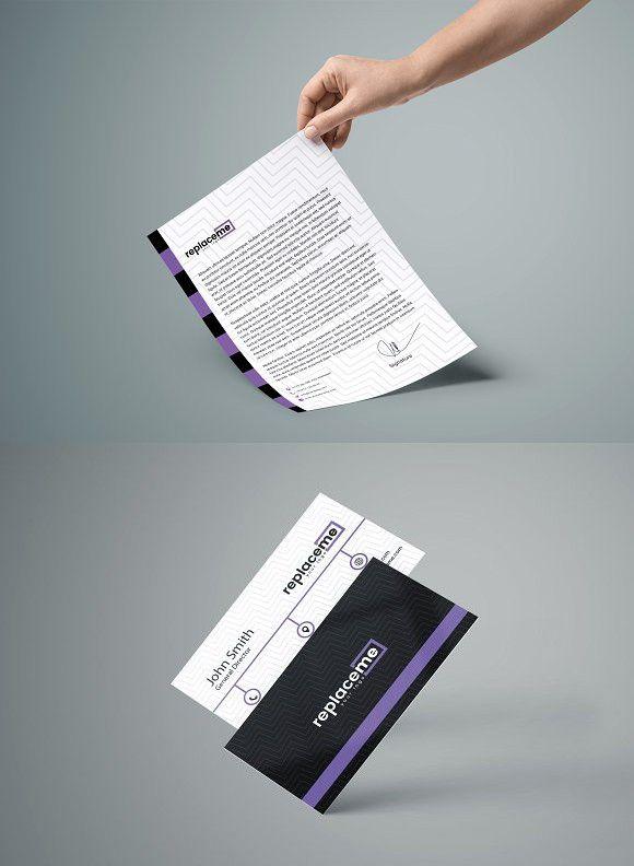 Modern Business card  Letterhead Business Card Design Pinterest