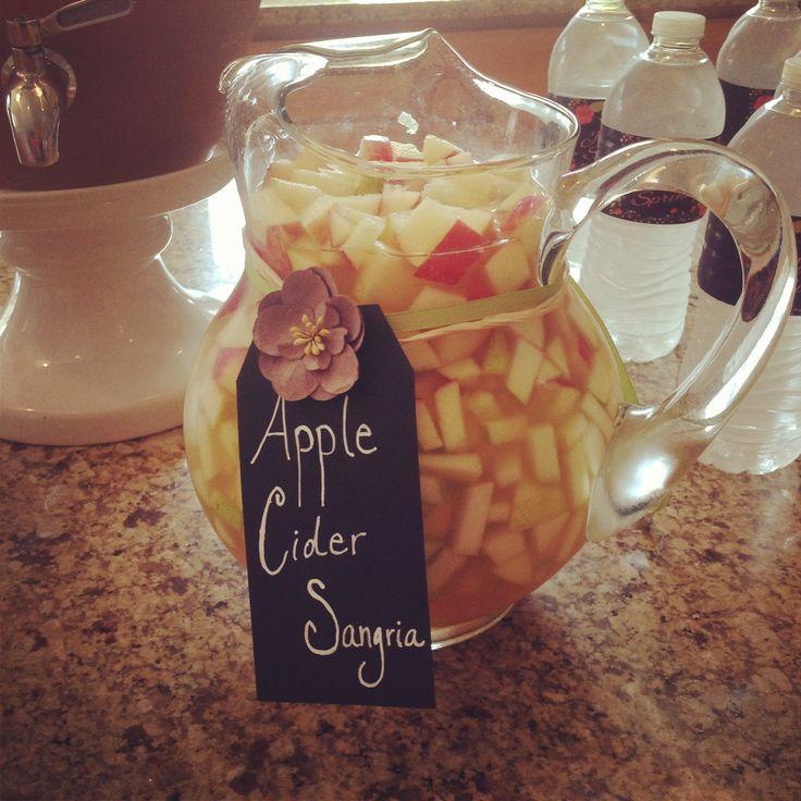 Fall baby shower (mommy sprinkle), apple cider sangria
