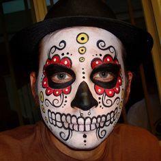 skull face halloween costume with beard - Google Search