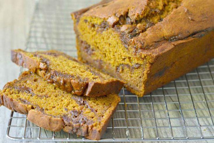 Рецепт бездрожжевого тыквенного хлеба с финиками и корицей, с указанием калорийности и содержания белков жиров и углеводов.