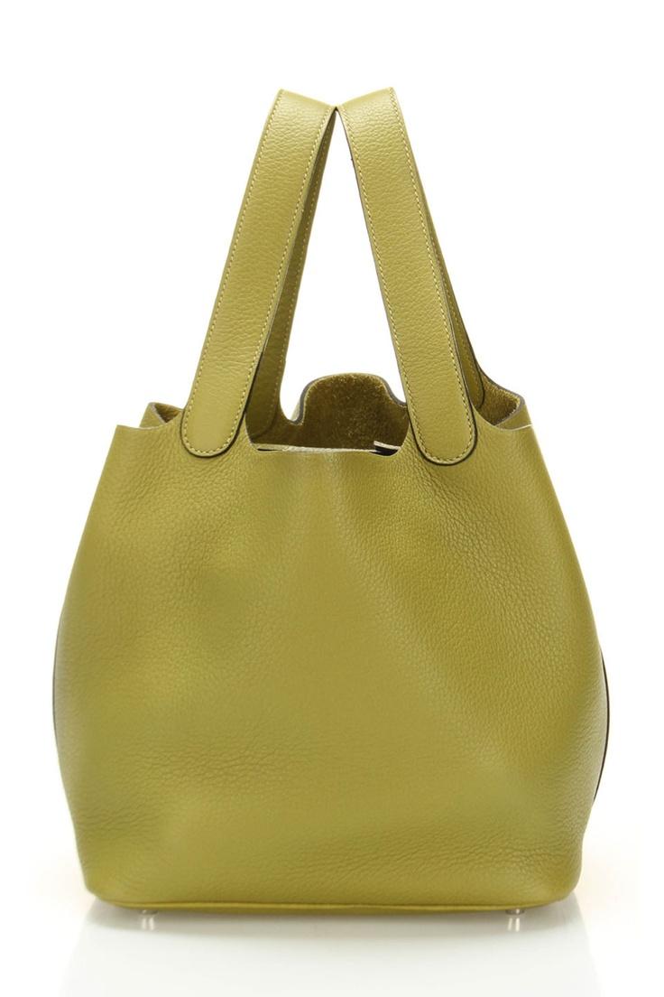 Hermes Picotin Handbag In Chartreuse