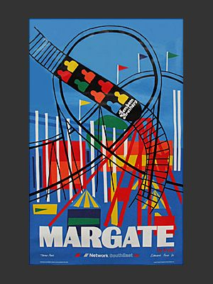Margate Poster designed by Edward Pond, 1989  - Dreamland soon to be revived