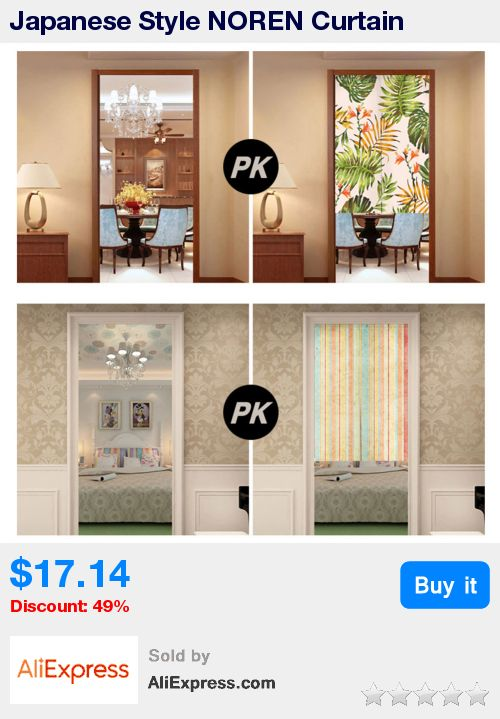 Japanese Style NOREN Curtain Canvas Door Curtain for Kitchen Store Green Leaves Colorful Striped Tapestry 85x100/85X140/85X180cm * Pub Date: 09:50 Oct 21 2017