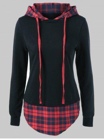 GET $50 NOW | Join RoseGal: Get YOUR $50 NOW!http://m.rosegal.com/plus-size-hoodies/plus-size-plaid-trim-drawstring-843990.html?seid=7617509rg843990