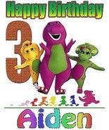 PERSONALIZED Barney and Friends BIRTHDAY SHIRT ADD NAME & AGE FOR FAMILY - $9.85