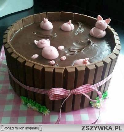 """Pomysł na tort """"zimowy"""""""