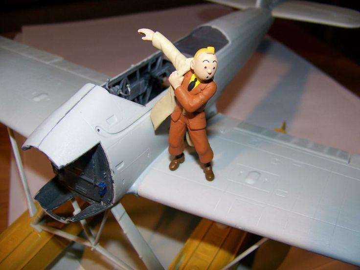 Les Aventures de Tintin :: Maquette de l'hydravion de l'étoile mystérieuse