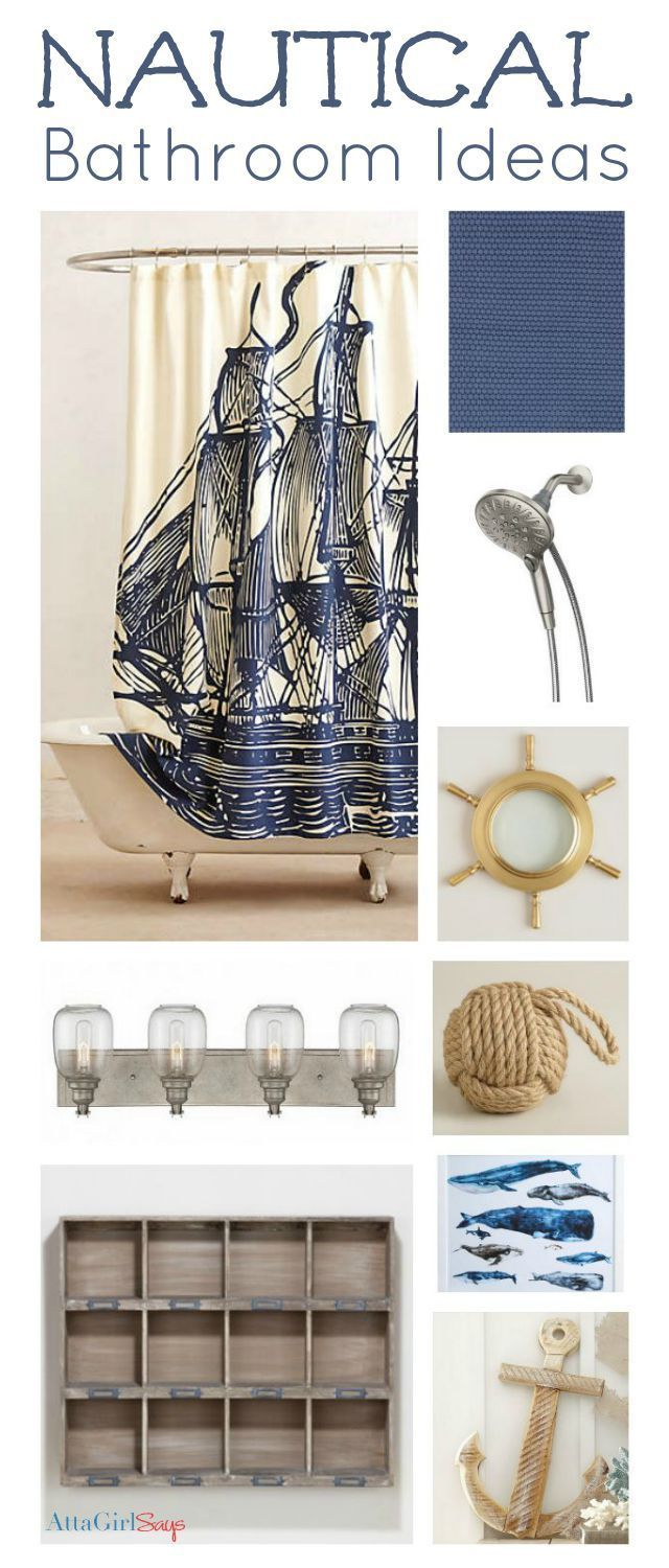 Amy from AttaGirlSays gives us nautical-themed inspiration ideas for the bath!