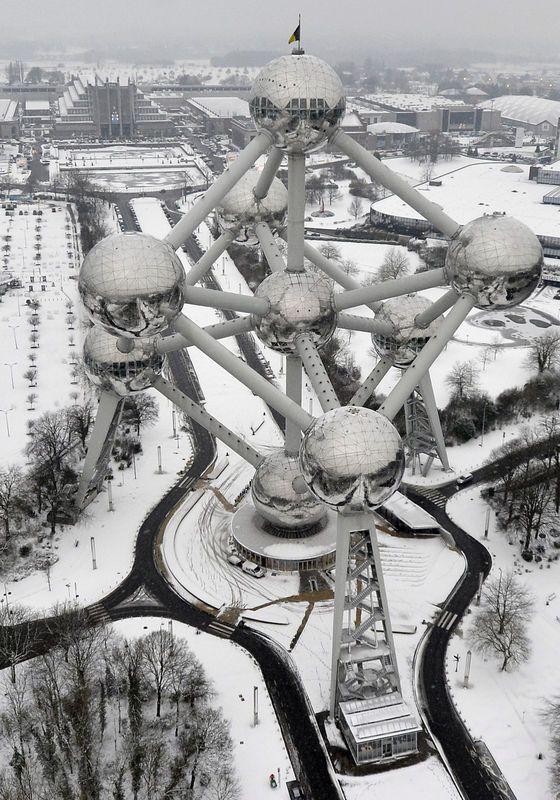 The Atomium built for the World's Fair 1958 - Brussels, Belgium