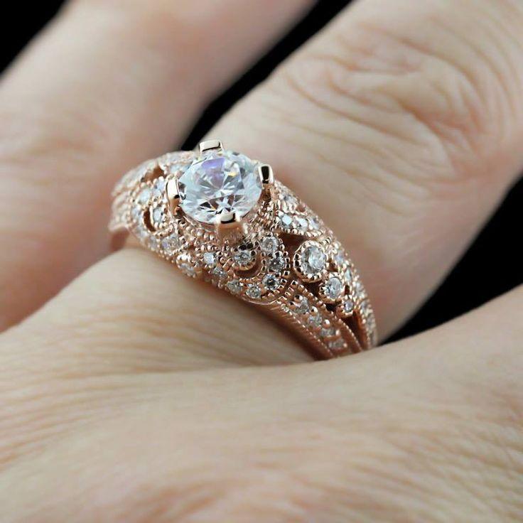 87 best Rose Gold Rings images on Pinterest