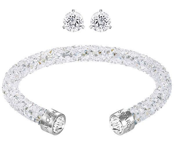 This set includes a pair of pierced earrings and a colour-matched Crystaldust cuff. Crafted using our Crystal Rock technique in an innovative rolled... Shop now