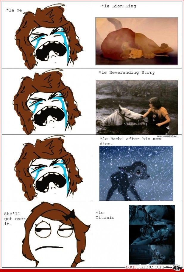 Yep, I never cry at Titanic even though I love that movie. But OH MY GOD. I can NEVER hold it together when watching The never ending story. It was one of my favorite movies when I was a kid, still is. But WHYYYY. I can't handle that scene