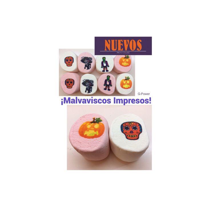 En Kcao estamos estrenando producto!!  NUEVOS MALVAVISCOS IMPRESOS  $9 individual $17 bolsa con 2 $32 bolsa con 4 $49 bolsa con 6  #nuevo #malvaviscos #marshmallow #malvaviscosimpresos #printedmarshmallows #new #estrenando #candy