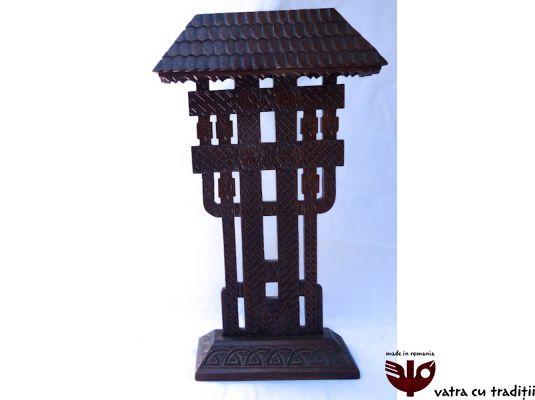 Troita sculptata in lemn antichizat,Troite - VatraCuTraditii.ro