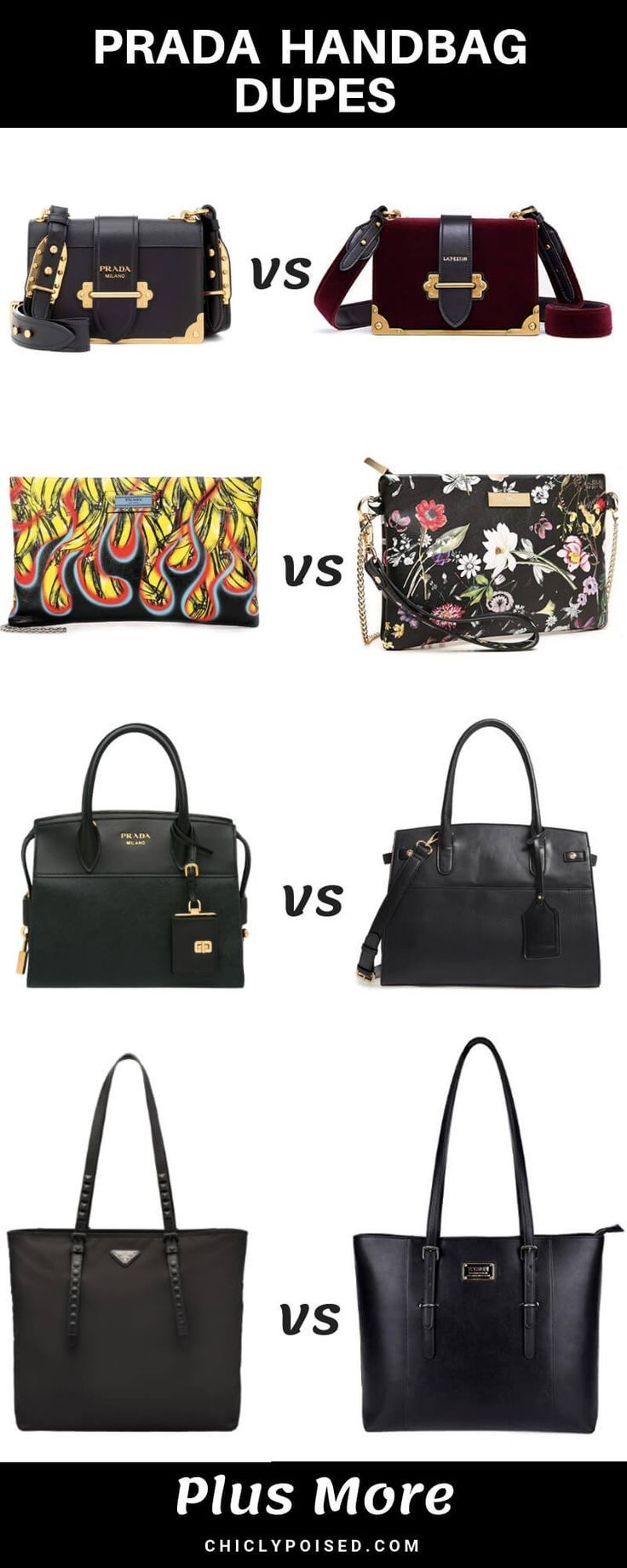 23e05fd8 These Prada bag dupes will have you slaying and saving! Everyone can ...