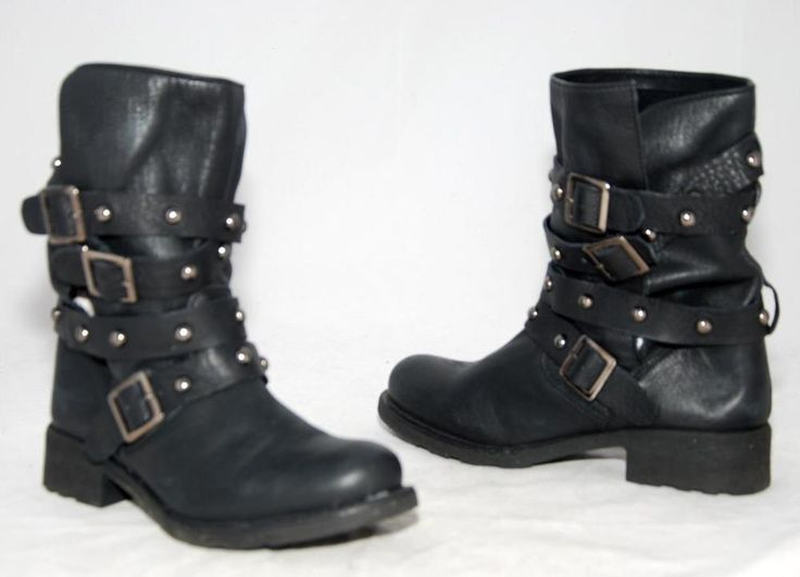 Tony Bianco Black Genuine Leather Calf Length Boots For Women Size 8