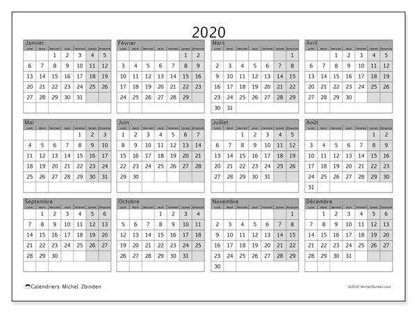 Calendrier 2020 Mensuel A Imprimer Gratuit.Calendrier 2020 35ld Calendrier A Imprimer Gratuit