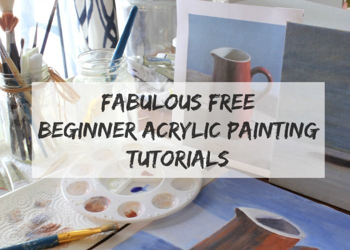 Fabulous Free Beginner Acrylic Painting Tutorials - Links to wonderful sites with great step by step tutorials for beginners
