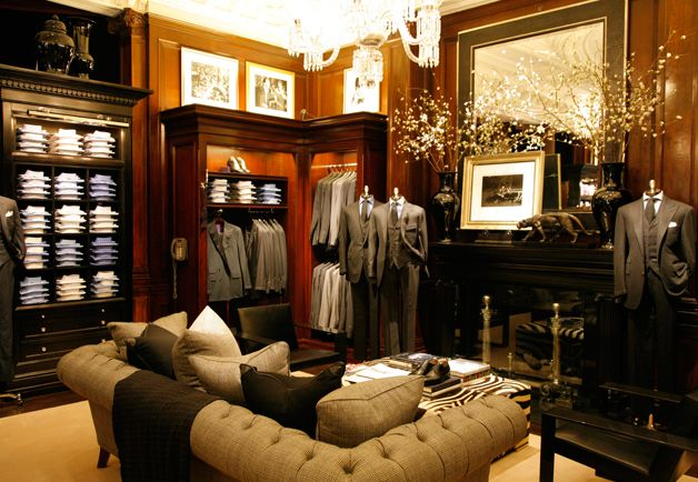 The Purple Label suiting boutique, on the stores second floor.