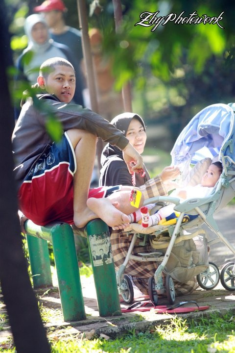 a family - Cilaki park - Bandung - Indonesia