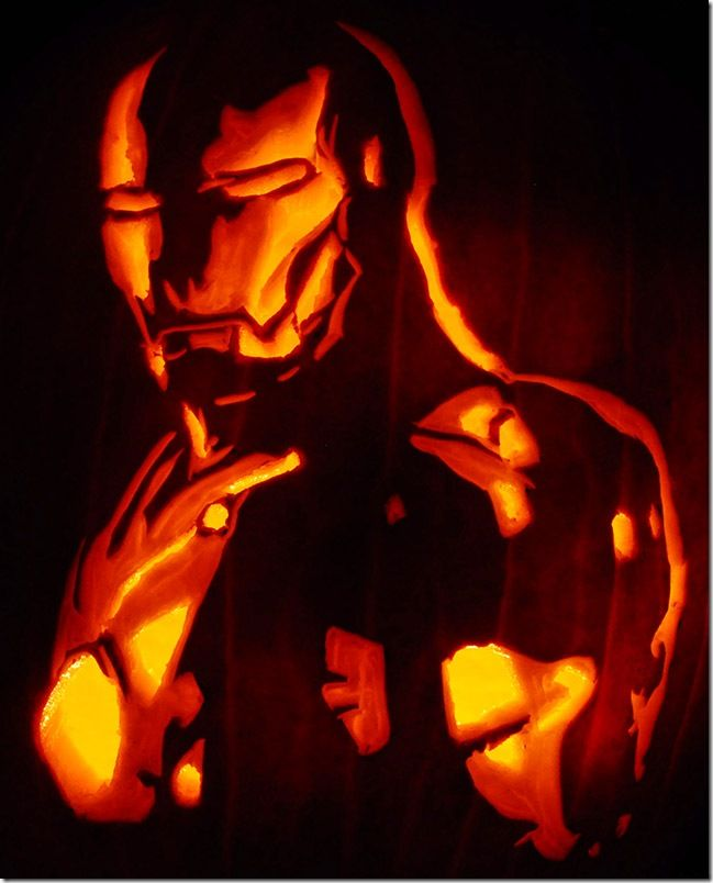 Iron Man Pumpkin Carving