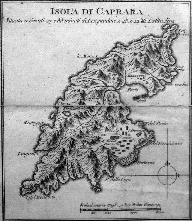 Isola di Capraia - Carta Topografica (1797).