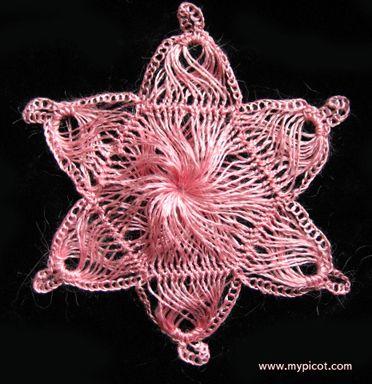 hairpin lace: star motif (tutorial)