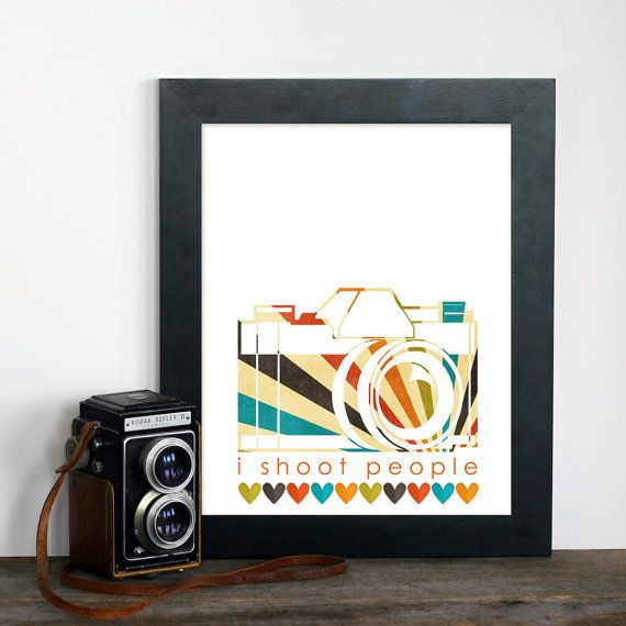 I Shoot People  Photography Hobby Modern Art by hairbrainedschemes, $15.00
