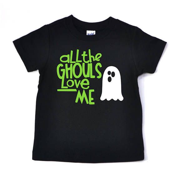 All the ghouls love me, Boys Halloween Shirt, halloween shirt for boys, halloween shirt for kids, ha