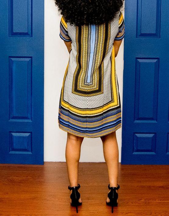 Solange Shift Dress back