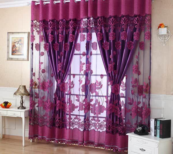 шторы спальни фиолетовые 2