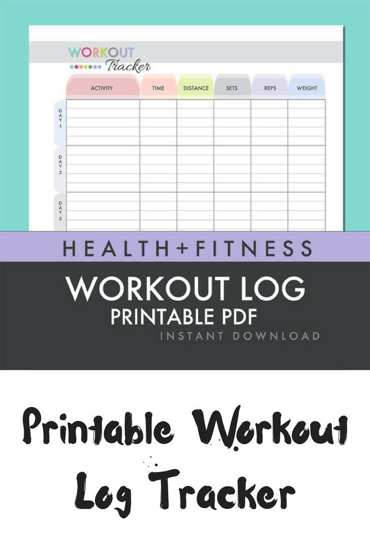 i love how easy and simple to use this printable workout log is i can