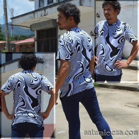 Tribal print T-shirt for men - ★naturaleeza★-遊び着いっぱい◎ヒッピー・エスニック・レイブファッション-