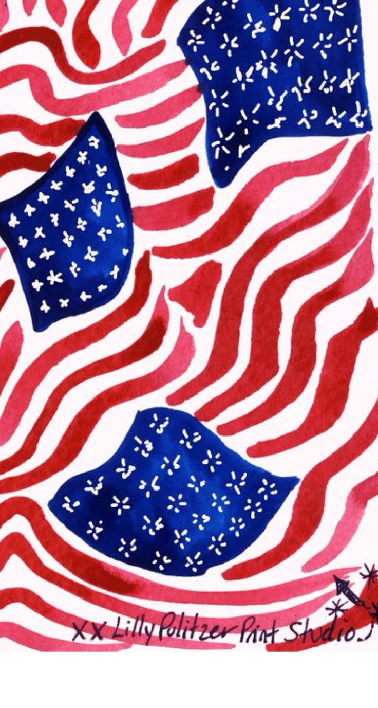 lillypulitzer 4th of July american usa iphone wallpaper