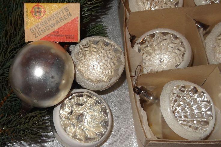alte Lauschaer Kugel Silber Reflexkugeln Christbaumschmuck 60 Jahre alt um 1950 | eBay