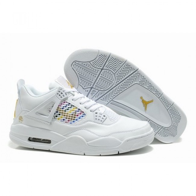 Vogue Air Jordan Retro 4 IV Men All White Shoes 1050 For $59.00 Go To: