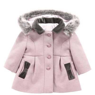 Tartine et Chocolat - Light pink woollen cloth coat - 50267