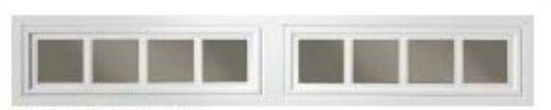 Clopay Window Insert Long Panel Madison 2 Piece Set - DIY