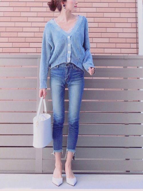 AMERIのデニムパンツ「DOMESTIC SKINNY DENIM」を使ったhononのコーディネートです。WEARはモデル・俳優・ショップスタッフなどの着こなしをチェックできるファッションコーディネートサイトです。