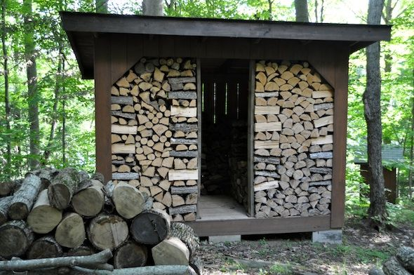 Making A Woodshed Out Of Chopped Wood Lifeovereasy