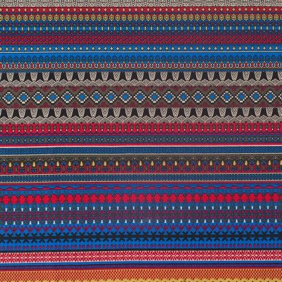 Multi Color Traditional European Stretch Cotton Woven Fabric by the Yard | Mood Fabrics