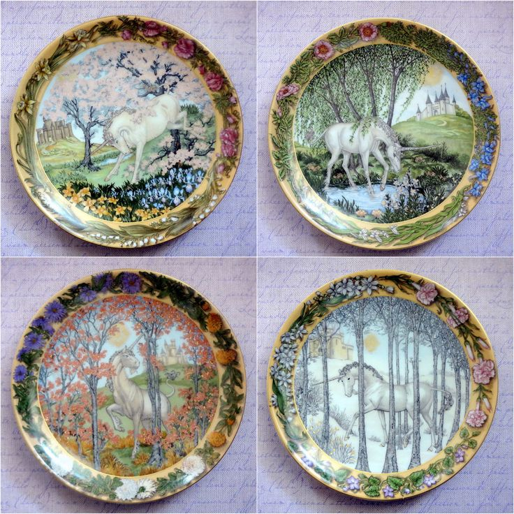 Vintage hutschenreuther plates enchanted seasons of a for Calligrapher canape plate