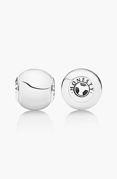 Free shipping and returns on PANDORA 'Essence - Honesty' Bead Charm at Nordstrom.com. Attract honesty with this thematically engraved and brightly polished silver charm.<br><br>PANDORA's Essence collection features unique hand-finished charms, which are secured in place thanks to an innovative patent-pending design that can only be combined with bracelets from the Essence collection.