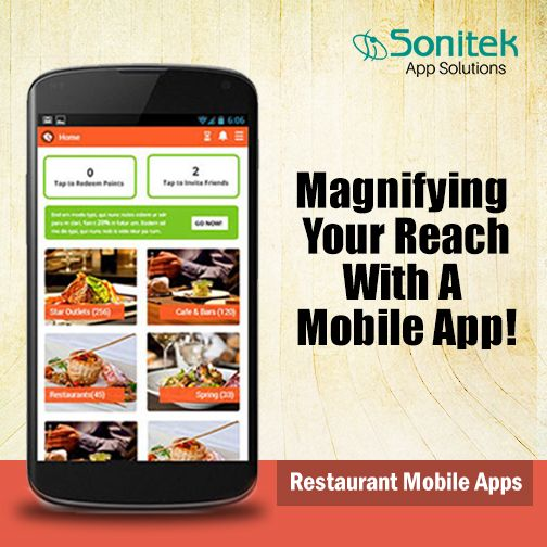 Realise Your Potential with a Restaurant Mobile App.  Visit: http://www.sonitekapps.com/  #MobileApps
